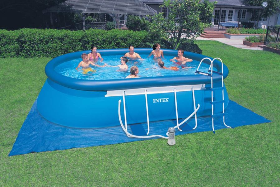 Piscine gonflable familliale intex for Piscine 3 boudins intex