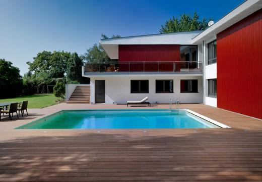 Fermeture de la piscine de bois