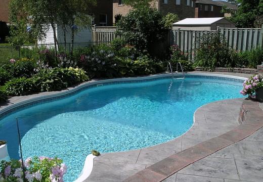 Fermeture de la piscine creusée